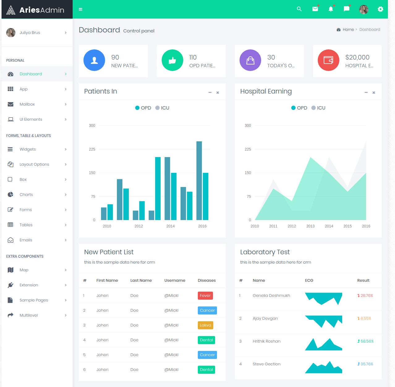 Bootstrap 4 Admin Templates