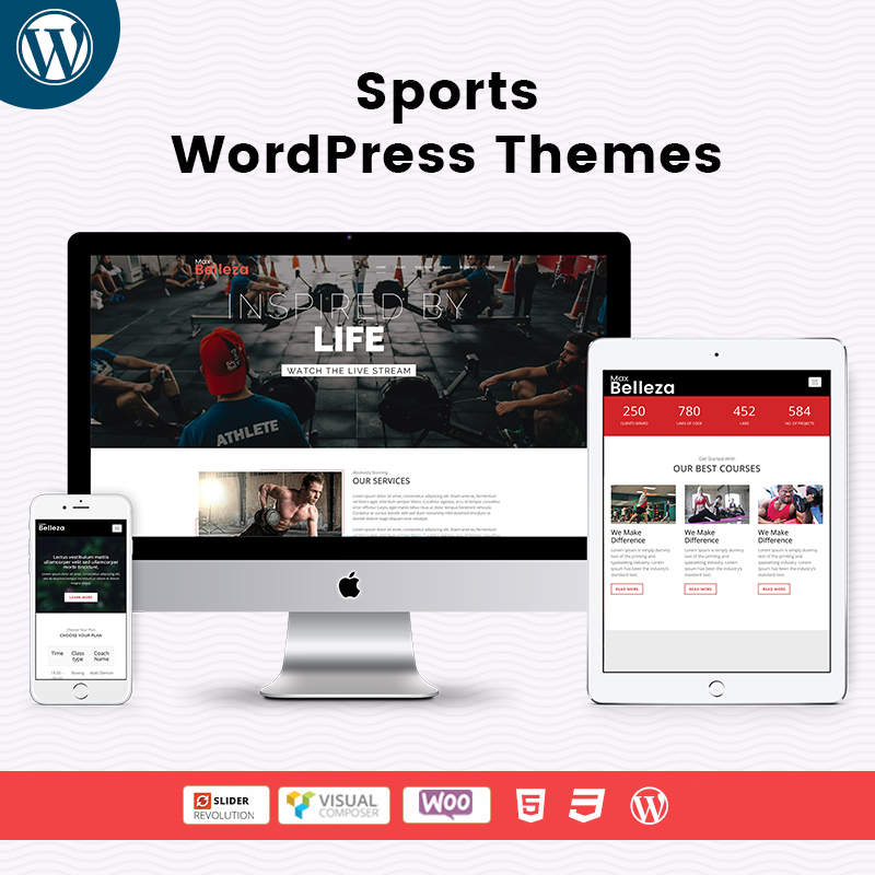 Responsive WordPress Theme – Sports Store