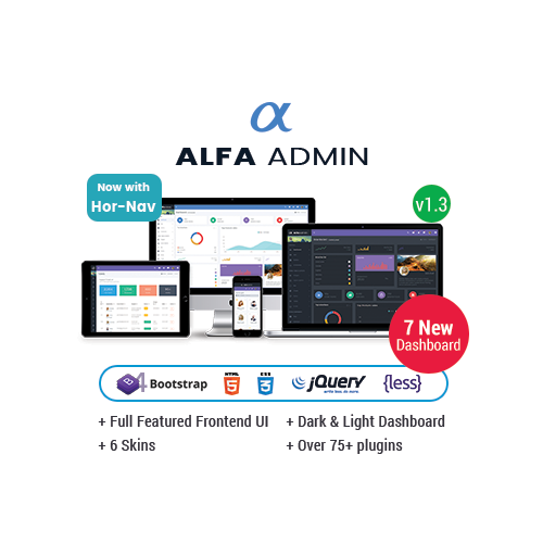 Alfa – Responsive Bootstrap 4 Admin Templates Dashboard, UI And WebApp Template