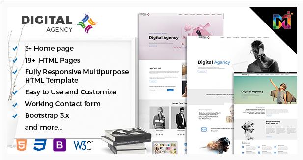 Multipurpose Responsive HTML Template