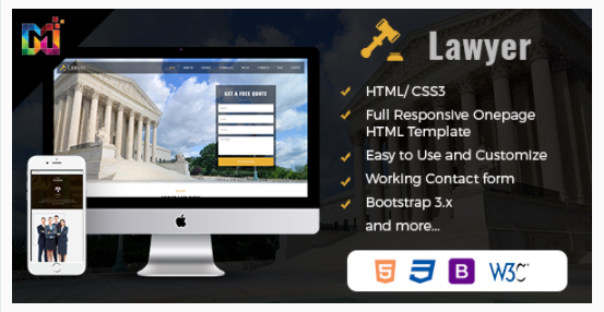 HTML One Page Template