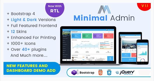 Bootstrap 4 Admin