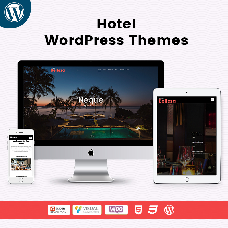 Hotel – Responsive WordPress Themes For MultiPurpose