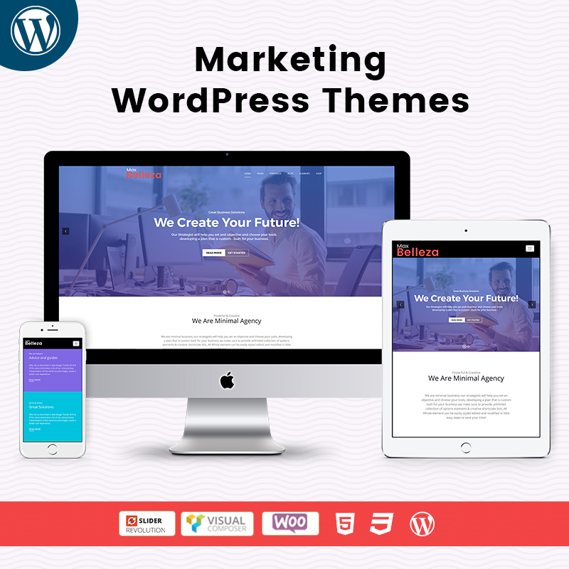Responsive WordPress Themes For Marketing