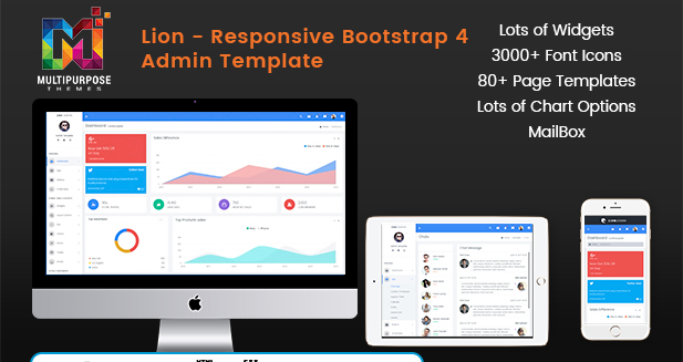 Bootstrap 4 Admin Template