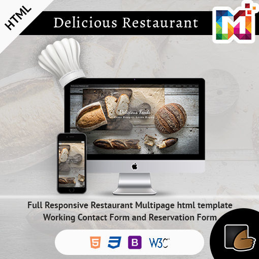 Restaurant Multi Page Responsive HTML Template