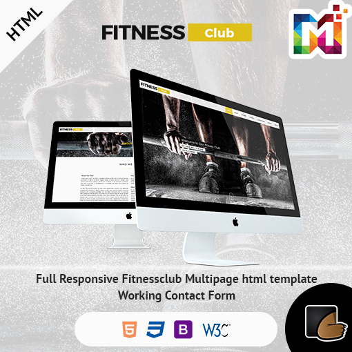 Fitness – HTML Responsive Multipurpose Template