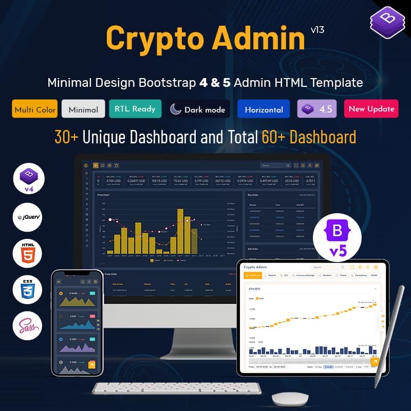Crypto – UI Kit Responsive Bootstrap 5 Admin Templates