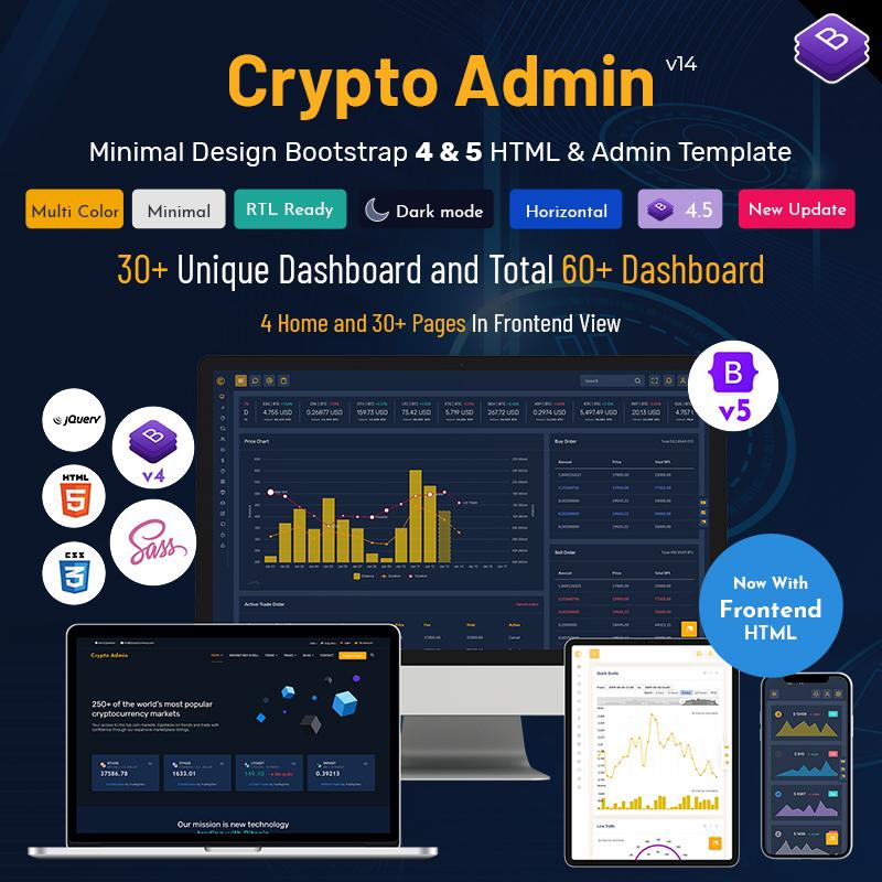 Crypto Admin Templates Bootstrap 5 Admin Dashboard UI Kit