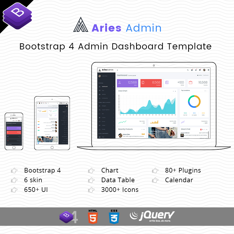 Aries Responsive Bootstrap 4 Admin Dashboard Template