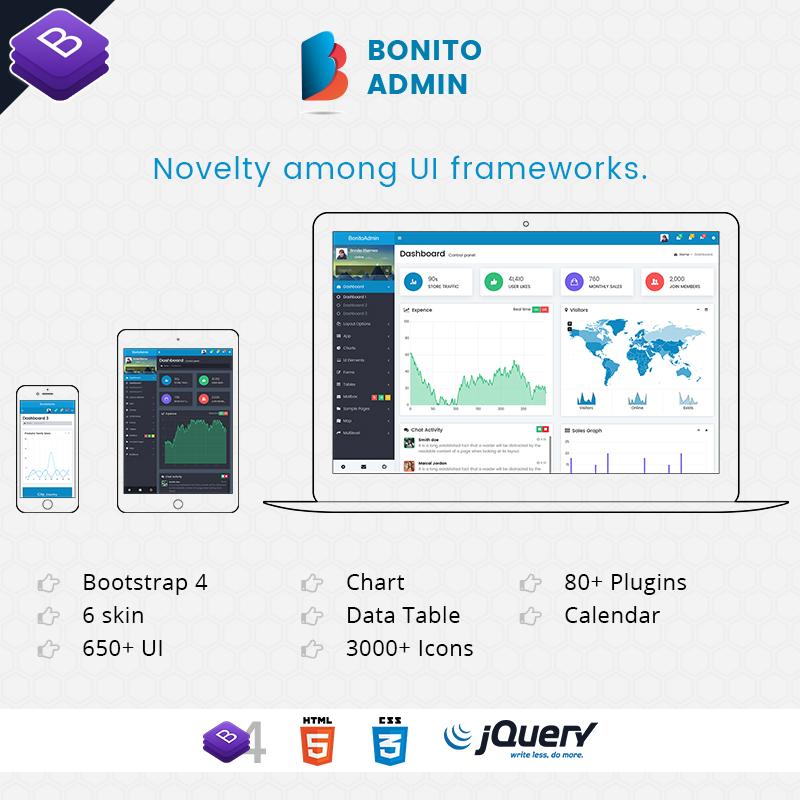 Bonito Responsive Bootstrap 4 Admin Template