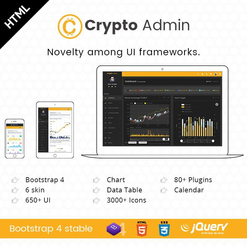 Crypto – UI Kit Responsive Bootstrap 4 Admin Templates