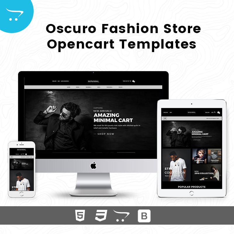 OpenCart Templates – Oscuro Fashion Store