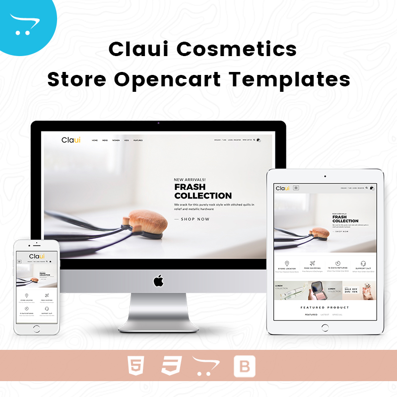 Claui Cosmetics Store –  OpenCart Templates