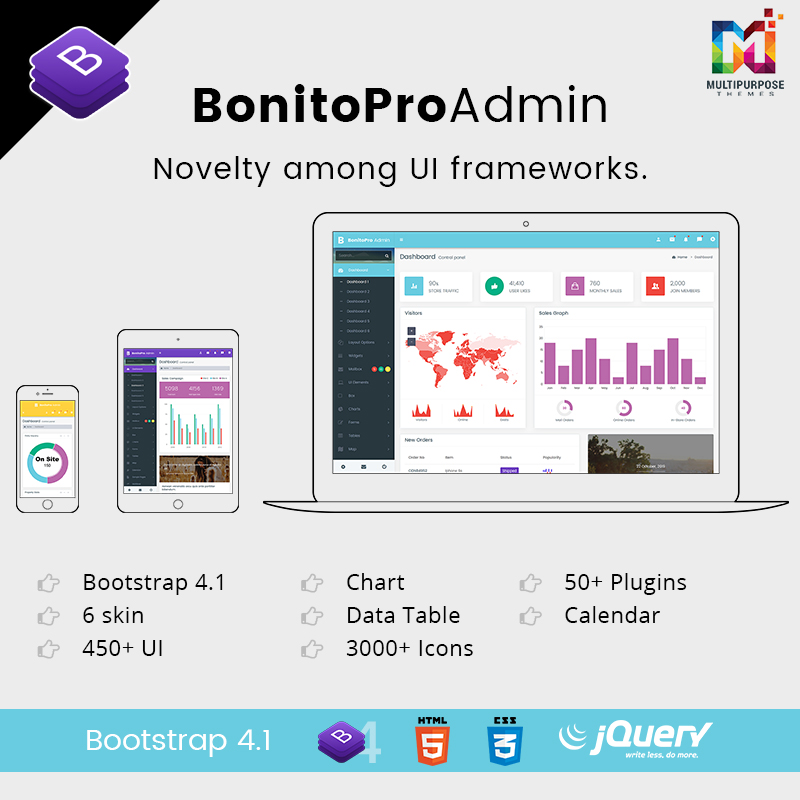 Bonito Pro – Bootstrap 4 Admin Templates & Web Apps Dashboards
