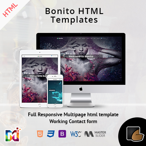 Bonito – Responsive Multi-Purpose HTML Template