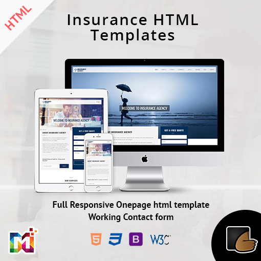 Insurance – Responsive HTML Template