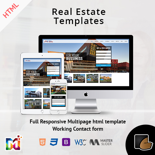 Real Estate – Responsive HTML Templates