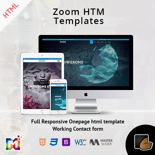 Responsive One Page Parallax – Zoom