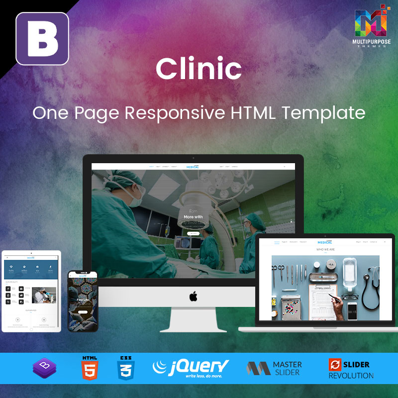 Clinic – One Page Responsive HTML Template