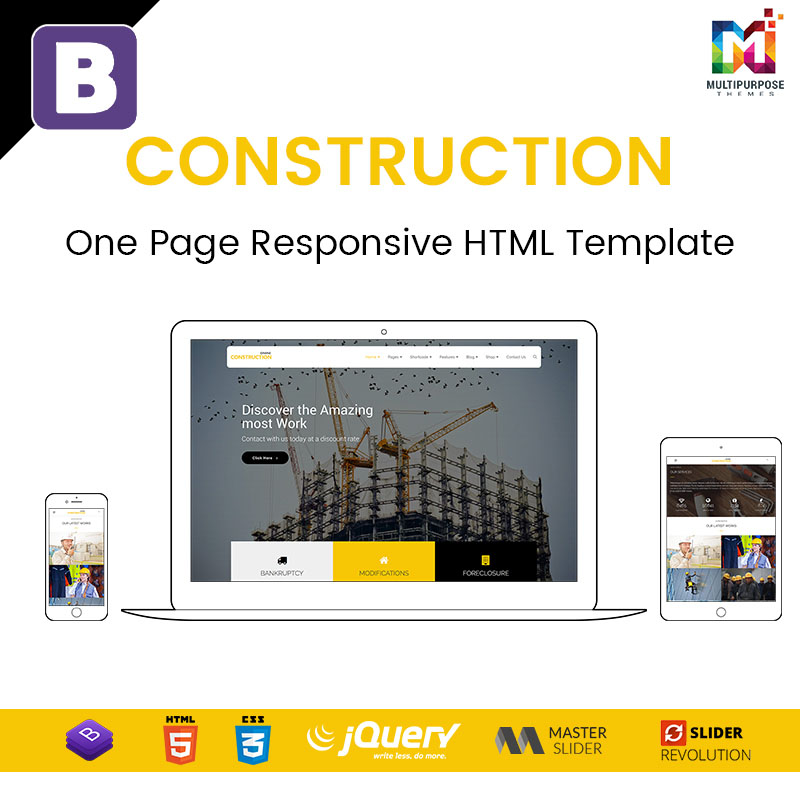 Construction – One Page Responsive HTML Template