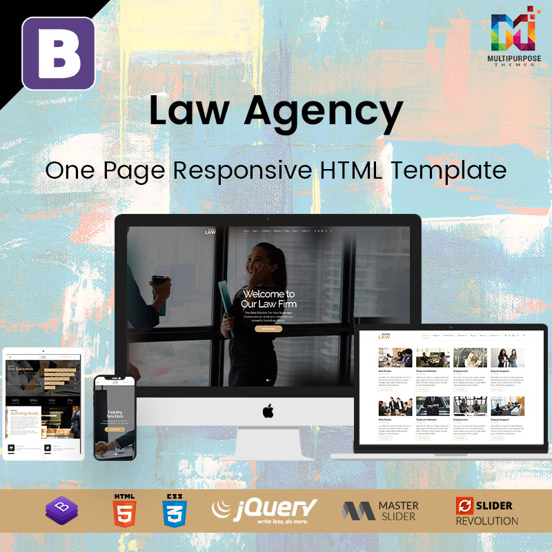 Law Agency – One Page Responsive HTML Template