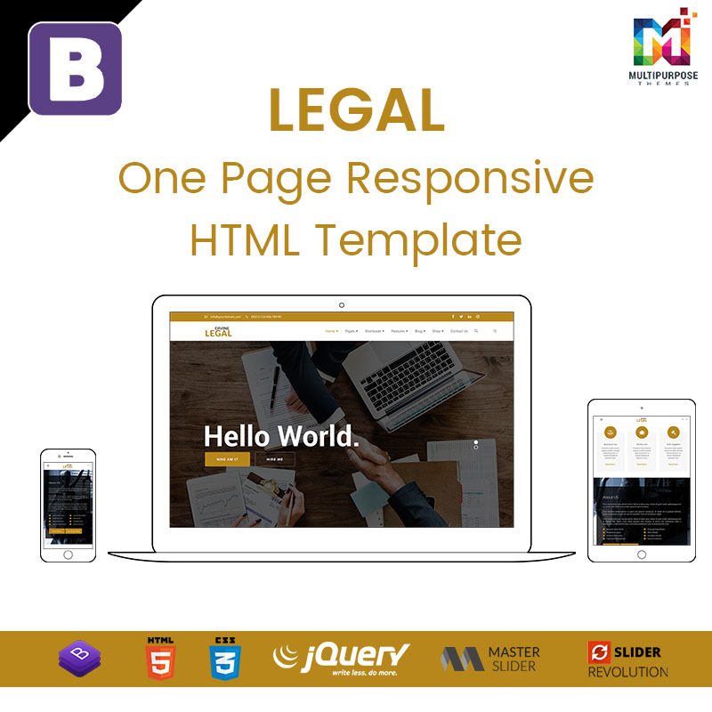 Legal – One Page Responsive HTML Template