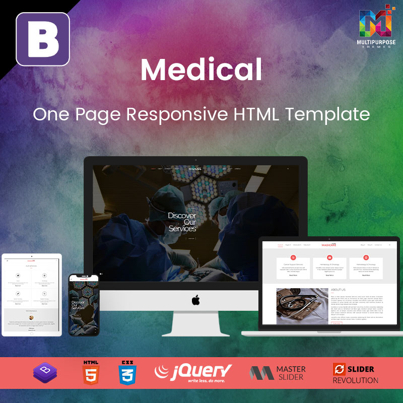 Medical – One Page Responsive HTML Template