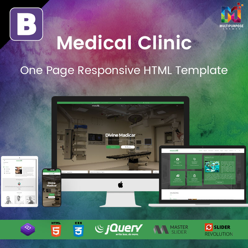 Medical Clinic – One Page Responsive HTML Template
