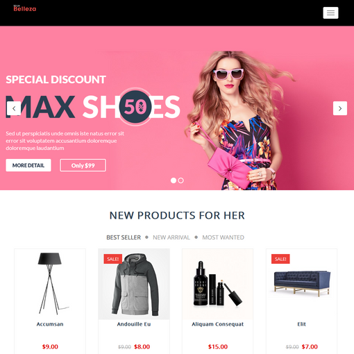 Belleza Maxshop Responsive WordPress Themes