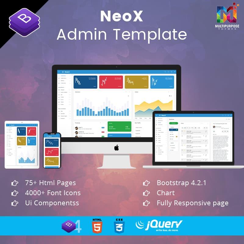 NeoX – Responsive Bootstrap 4 Admin Templates