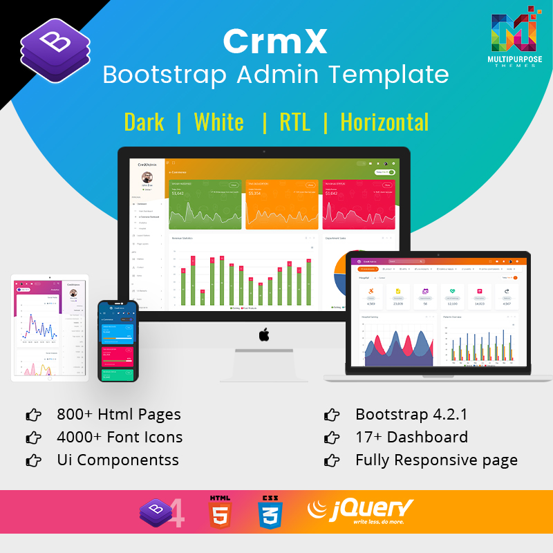 CRM Admin Dashboard Template With Admin Panel Dashboard