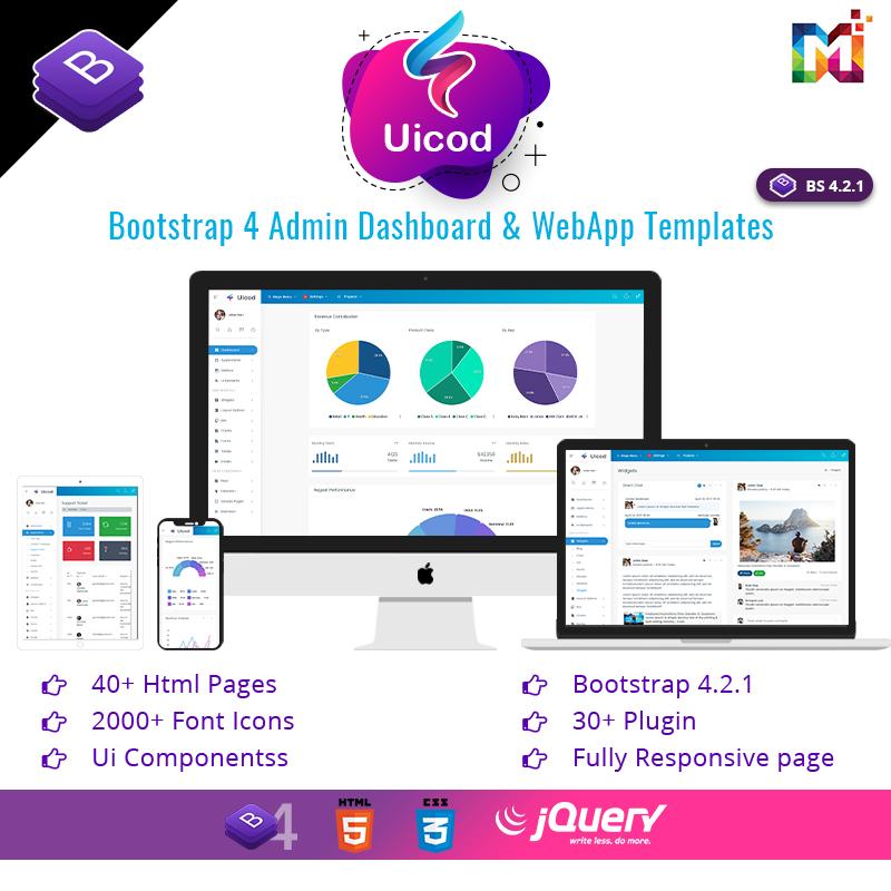 Uicod Admin – Responsive Bootstrap Admin Dashboard & WebApp Templates