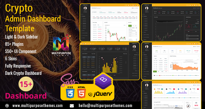 Cryptocurrency Dashboard Admin Template