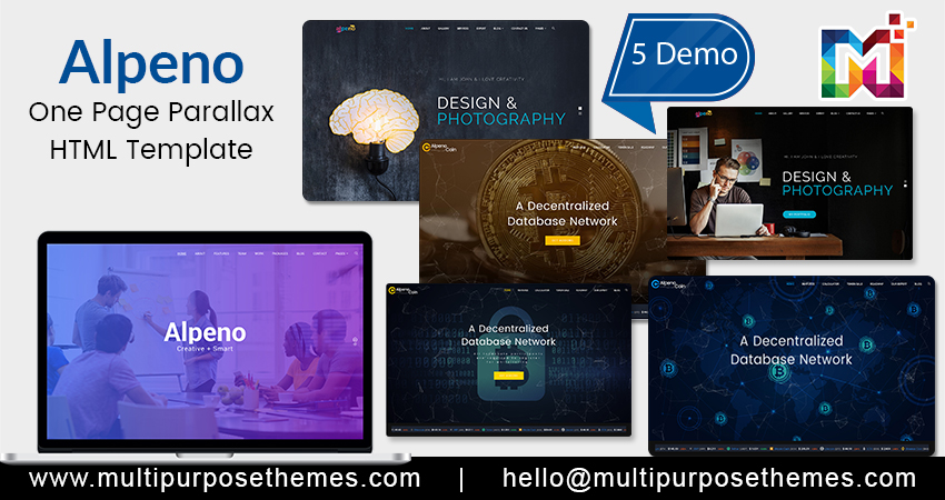 One Page Parallax HTML Template  Responsive Html Template