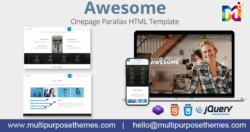 One Page Parallax HTML Template | Premium Html Template