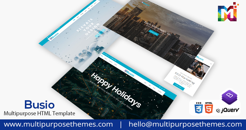 Premium Html Template   One Page Parallax HTML Template