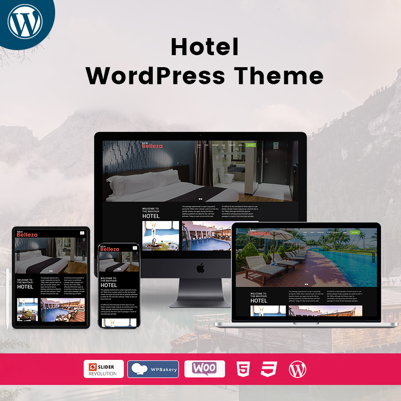 Belleza Hotel Premium WordPress Themes