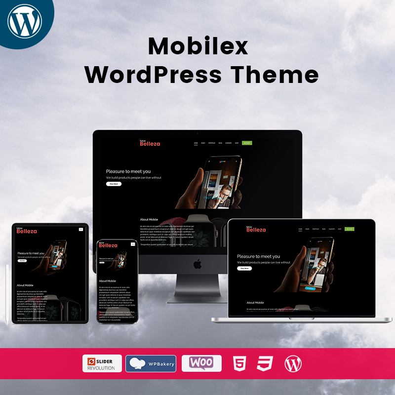 Belleza Mobilex Responsive WordPress Themes