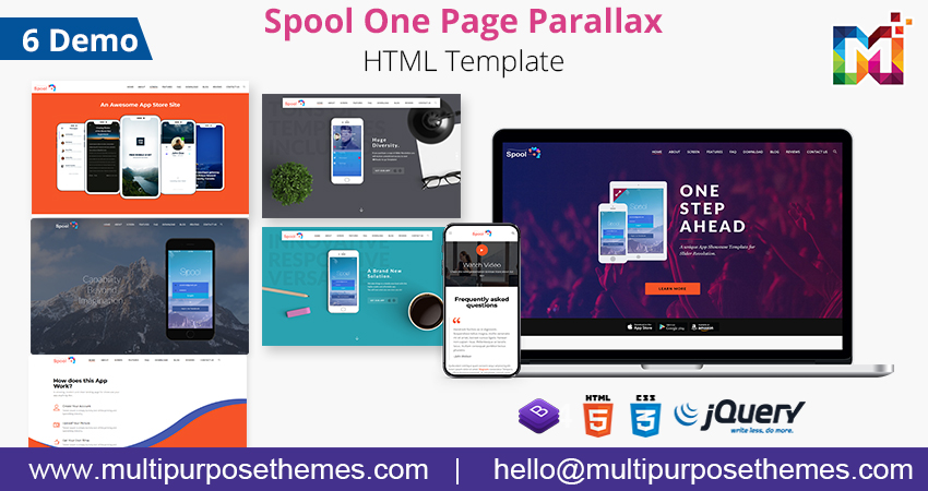 Responsive Html Template | One Page Parallax HTML Template