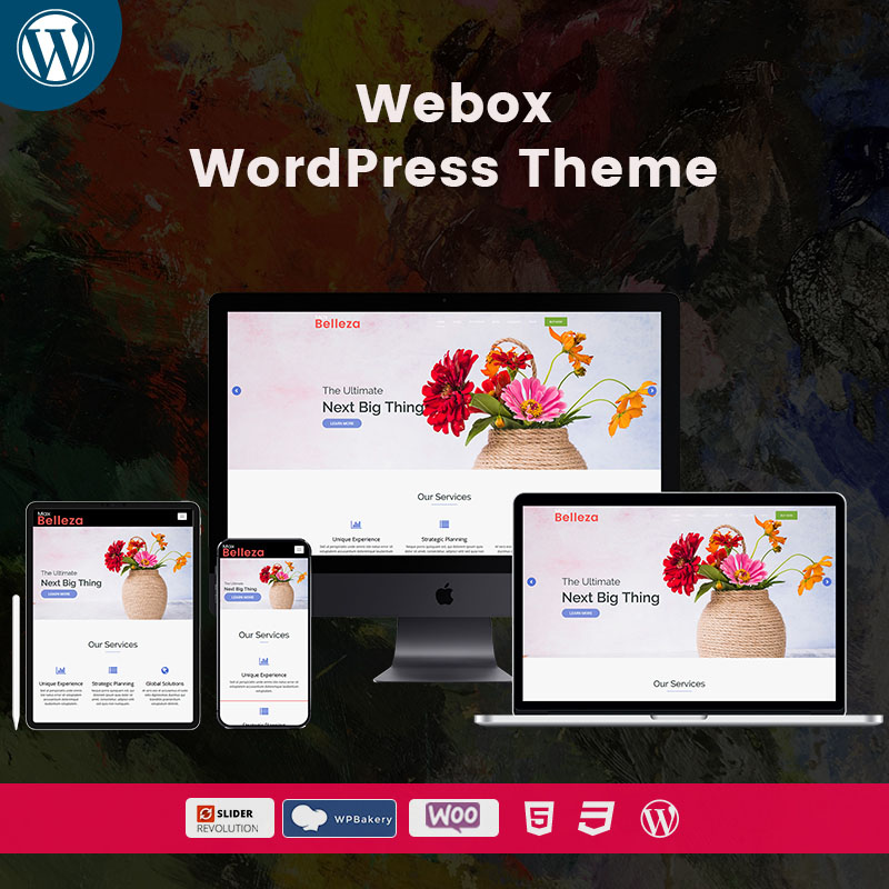 Belleza Webox WordPress Multipurpose Themes