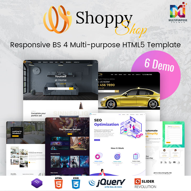 Shoppy – ECommerce HTML Template