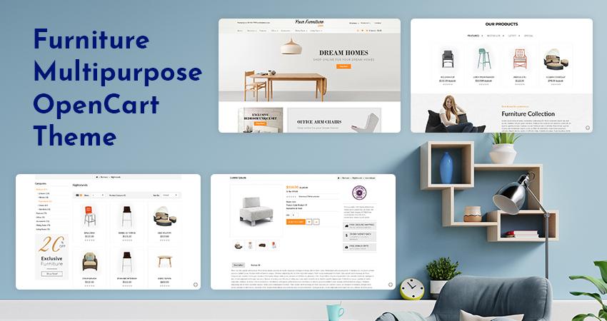 MultiPurpose Responsive OpenCart Template | Furniture