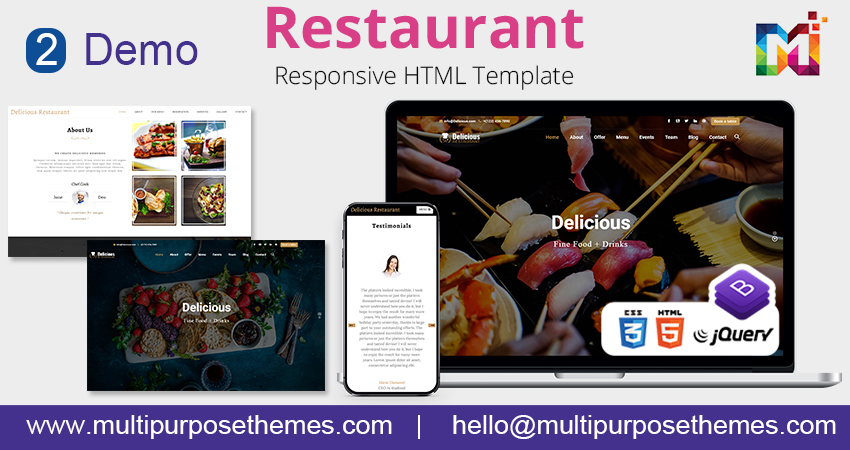 Business HTML Template | One Page Parallax HTML template