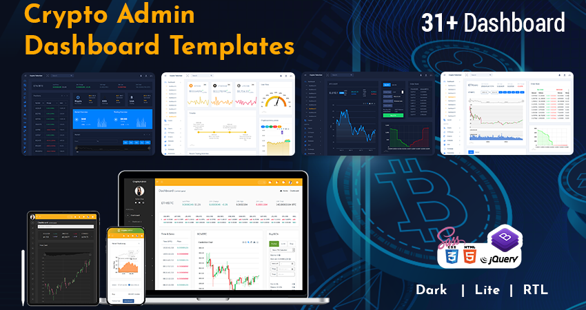 Bootstrap Admin Template | Cryptocurrency Dashboard Admin Template
