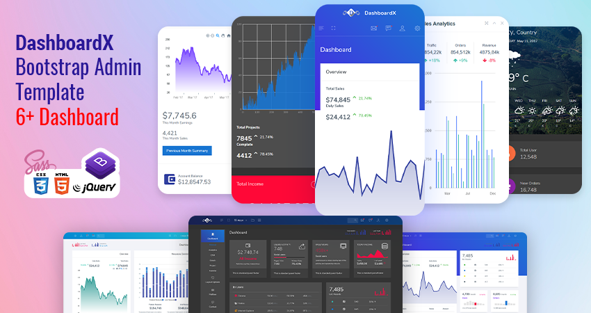 Bootstrap HTML Admin Panel Template | Dashboard Template