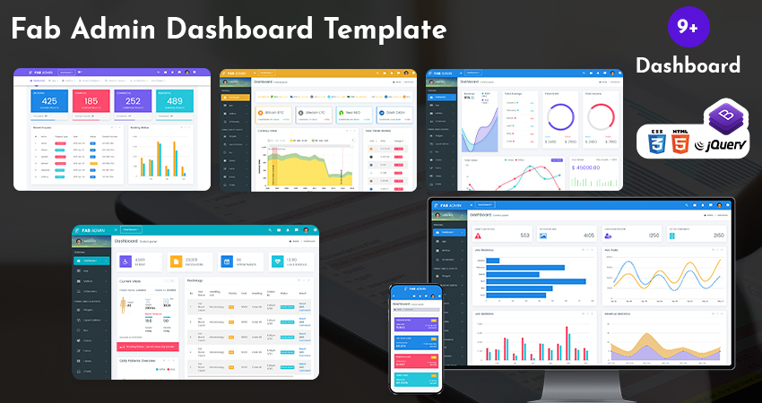 Responsive Bootstrap Dashboard Template