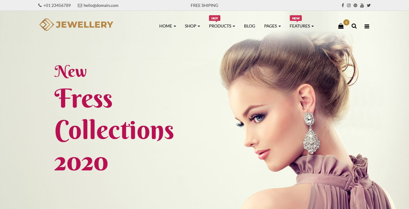 Jewellery Responsive Opencart Theme | Fashion OpenCart Template