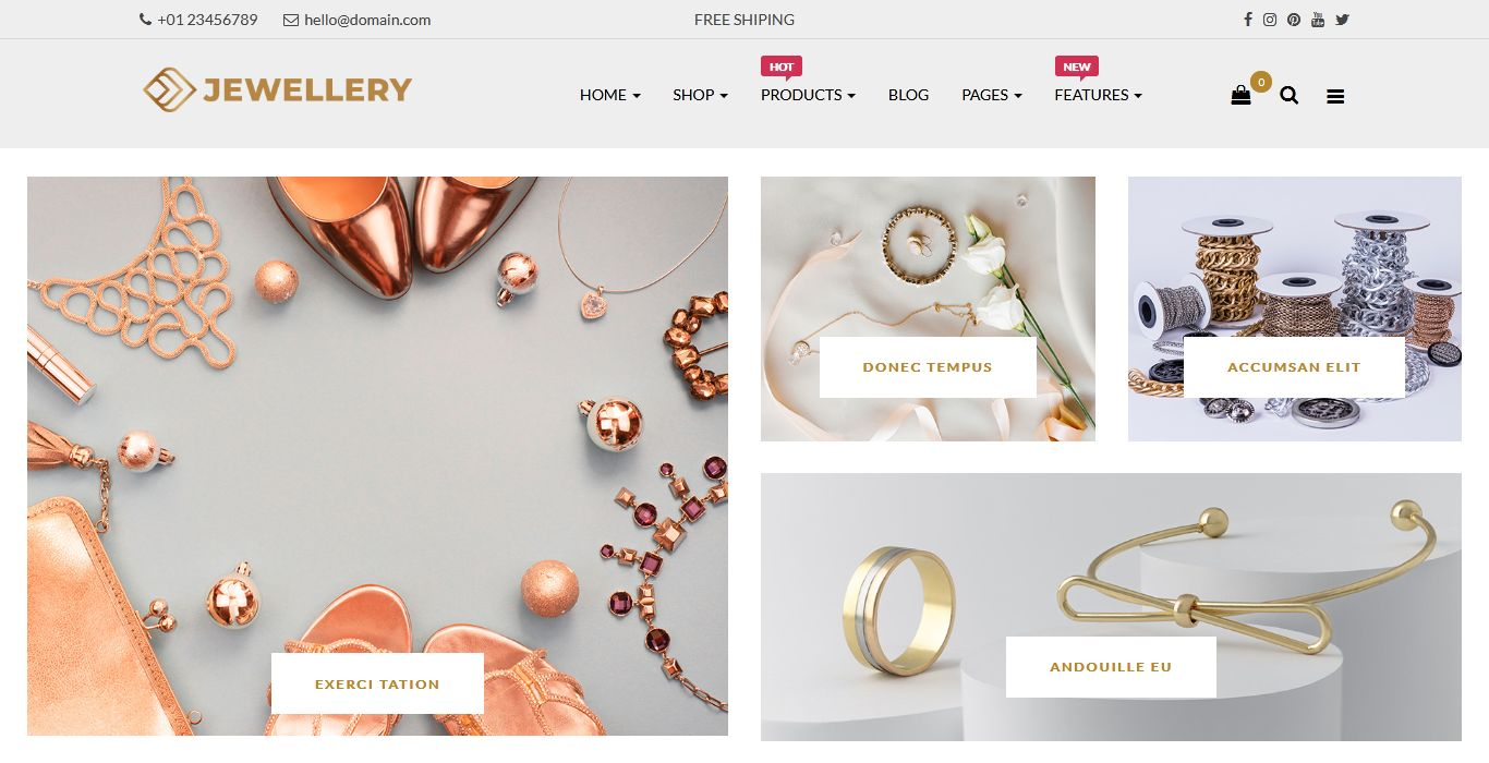 Jewellery Responsive Opencart Theme | Fashion Store OpenCart Theme