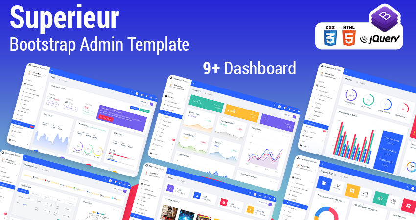Bootstrap HTML Admin Panel Template